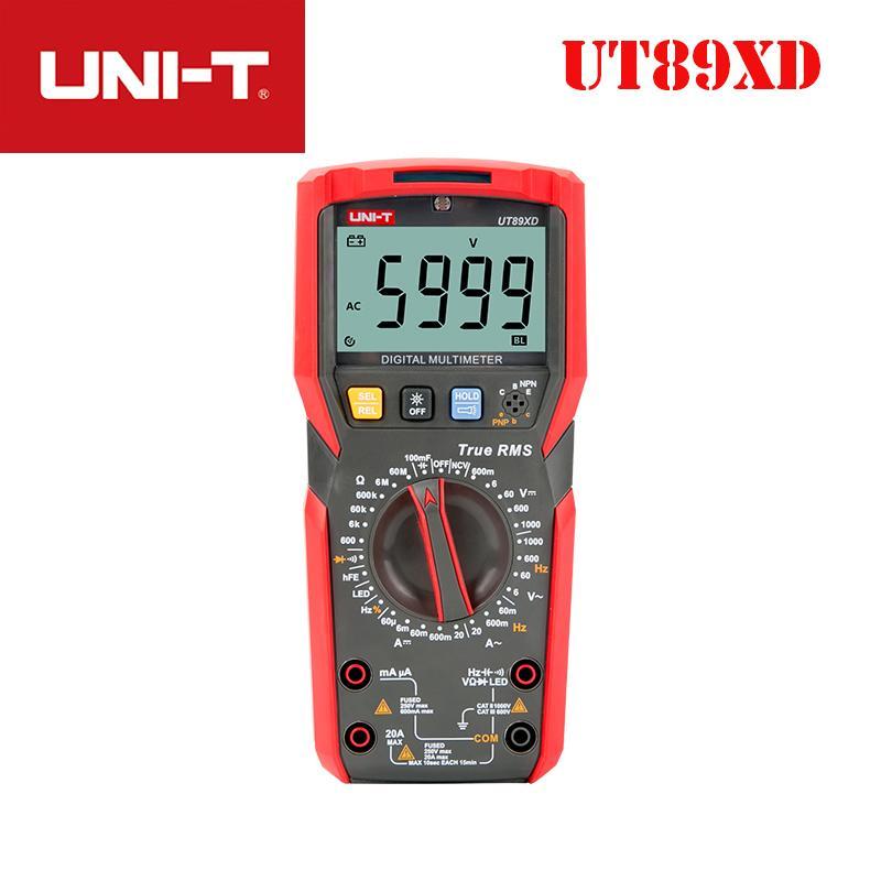 temperatura di prova AC DC voltmetro NCV condensatore triodo multimetro digitale ad alta corrente UNI T UT89XD UT89X Vero TRMS 20A