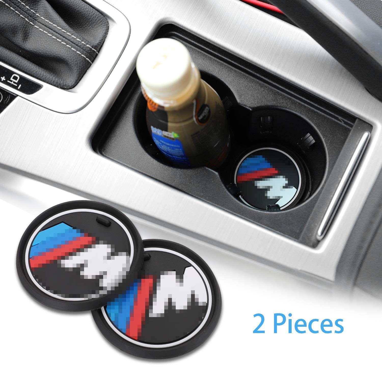 2 PC를 2.75 인치 M 라인 자동차 인테리어 액세서리 안티 슬립 컵 매트 BMW 1 3 5 7 시리즈 F30의 F35 320li 316I X1 X3의 X4의 X5 X6에 대한