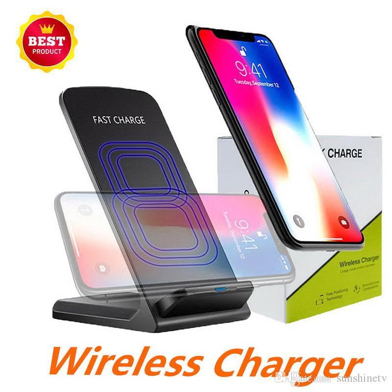 alle Smartphones 2 Spulen Wireless-Ladegerät Schnell Qi Wireless-Ladestation Pad für iPhone X 8 8Plus Samsung Anmerkung 8 S8 S7-Qi aktiviert