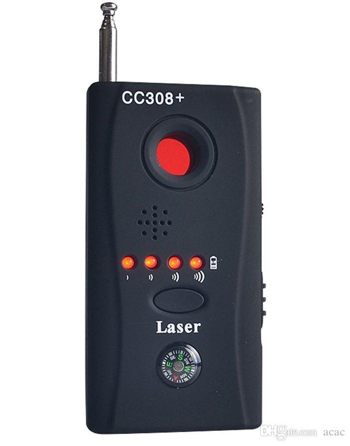 Gama completa de Anti - Spy Bug Detector CC308 Wireless Mini cámara oculta de la señal GSM dispositivo Buscador de Privacidad de seguridad protegen