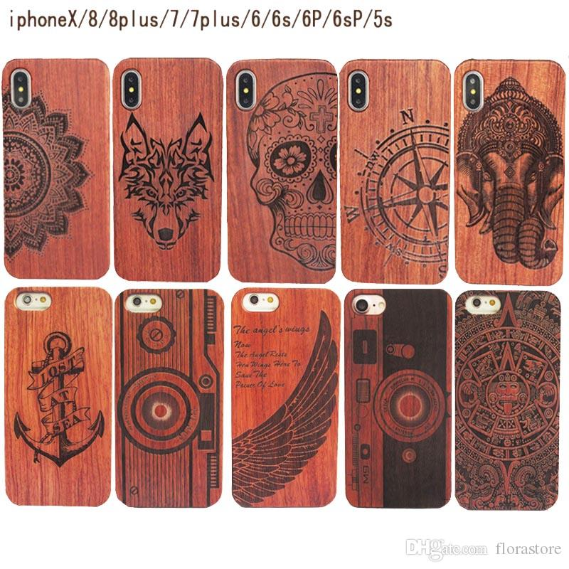 Many Choice New 3D Real Wood Pattern PC Back Cover Colorful Painted Relief Cases for iPhone 6 7 8 X/XS MAX
