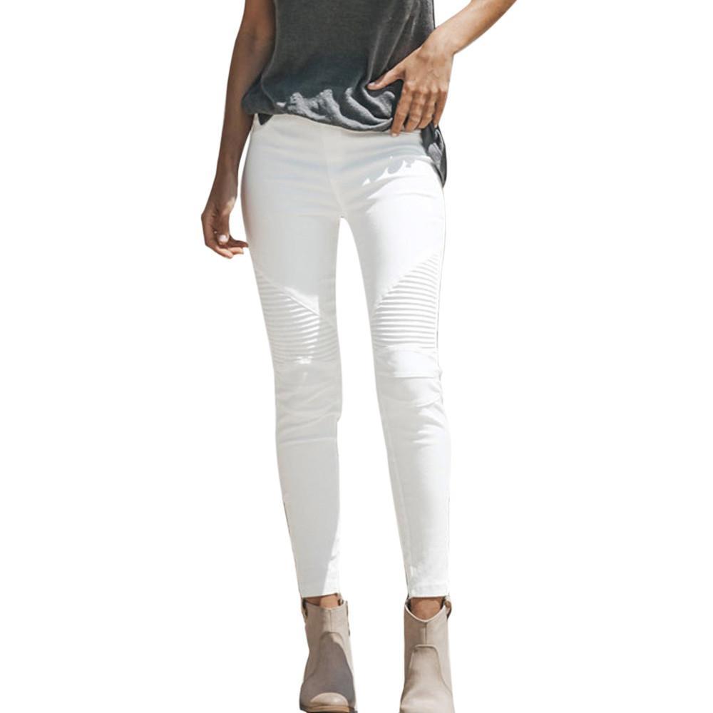 Le donne con i pantaloni alta di donne della vita matita Inverno Stretch di base Skinny Jeans Donna Formato più pantaloni del denim di cotone Femme