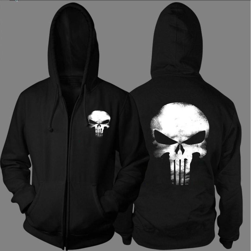 2020 mens cappotto design di lusso felpa con cappuccio punisher cranio uomini maglione con cerniera a maniche lunghe, più giacca di cachemire cardigan