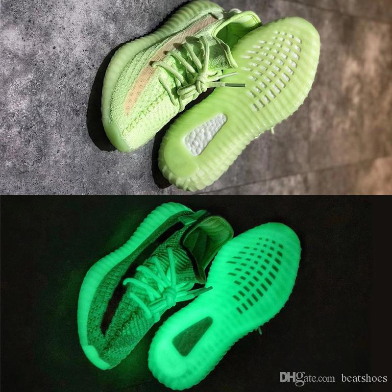Nuovi GID Glow Kanye West Static Refective Boots Sneakers Scarpe di design Wave Scarpe da corsa Butter Zebra Oreos Uomo Donna Sneakers SZ US 5-13