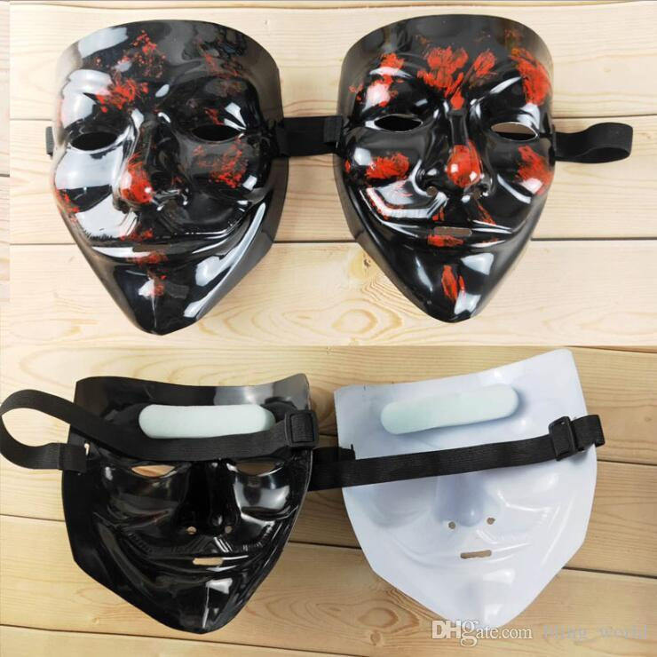 Vendetta V Word Mask Creative Movie Theme Cosplay Costume Halloween Masquerade Masks Party Props Vendetta Anonymous Movie Guy LXL441