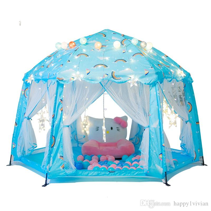High Quality Large Canopy Princess Castle Tent Children Automatic Rack Leisure Toy Tent Portable Kids Big Tent House