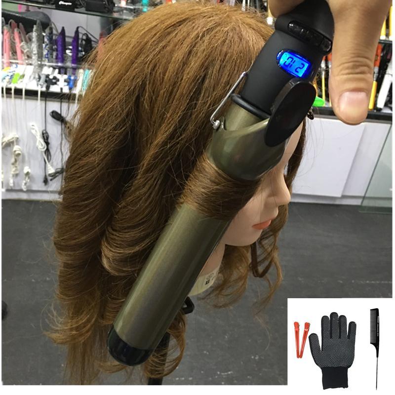 fer à friser professionnel fer à friser 38 mm grosses boucles six cheveux taille de revêtement céramique bigoudi US / EU / UK / AU