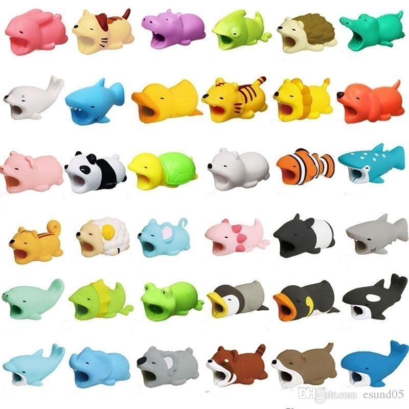 كابل الحيوان دغة شاحن كابلات حامي تذوق غطاء ل فون شواحن الهاتف الذكي الحبل لطيف 36 تصميم الحيوانات بواسطة dhl