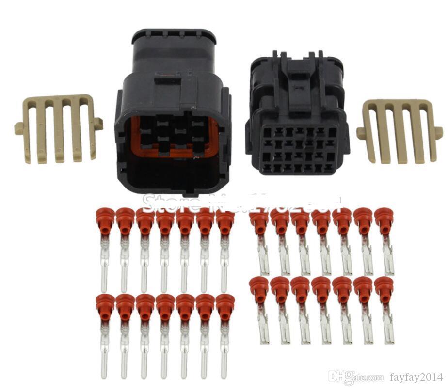 Frete grátis 20set 14 Pin jaqueta conector macho e fêmea conector de carro de plástico preto com terminal de DJ7141Y 2-11-/ 21 14P conector