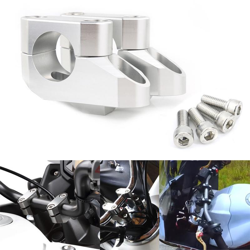 Each Handlebar 7//8 Chrome 4 Rise OE Style as fitted Honda CBF125