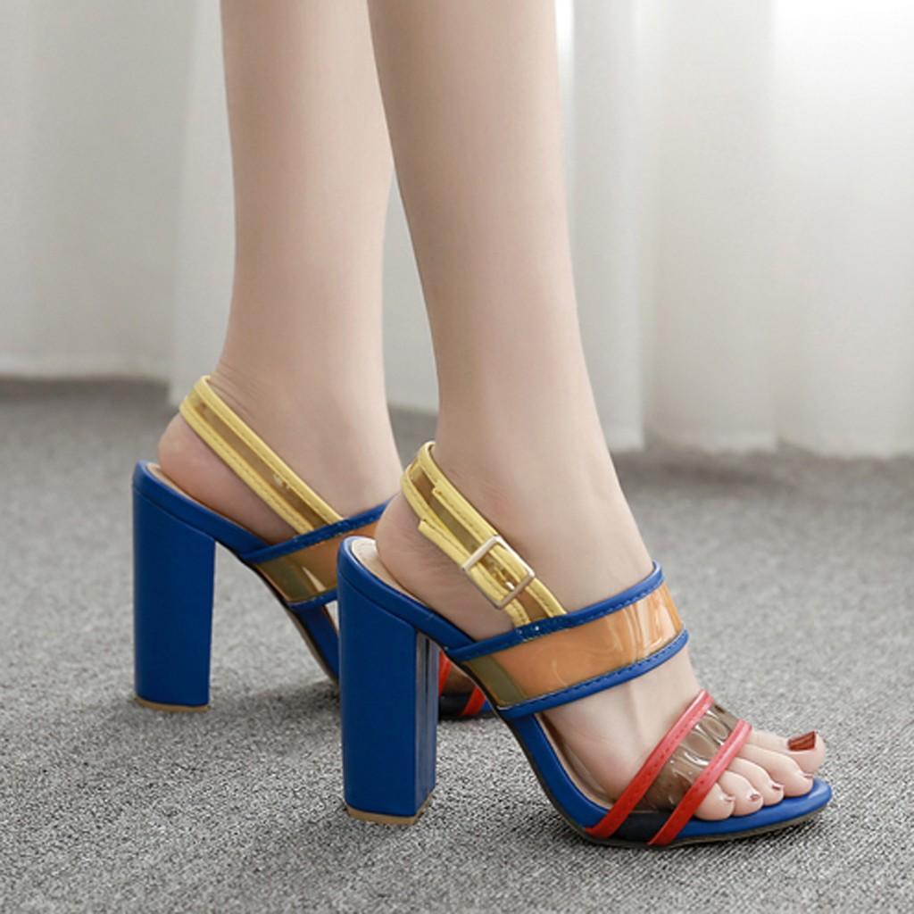 2019 nouvelle élégante femme-chaussures femmes été Casual mode correspondant discothèque discothèque creux talons hauts chaussures Sapatos novos senhoras