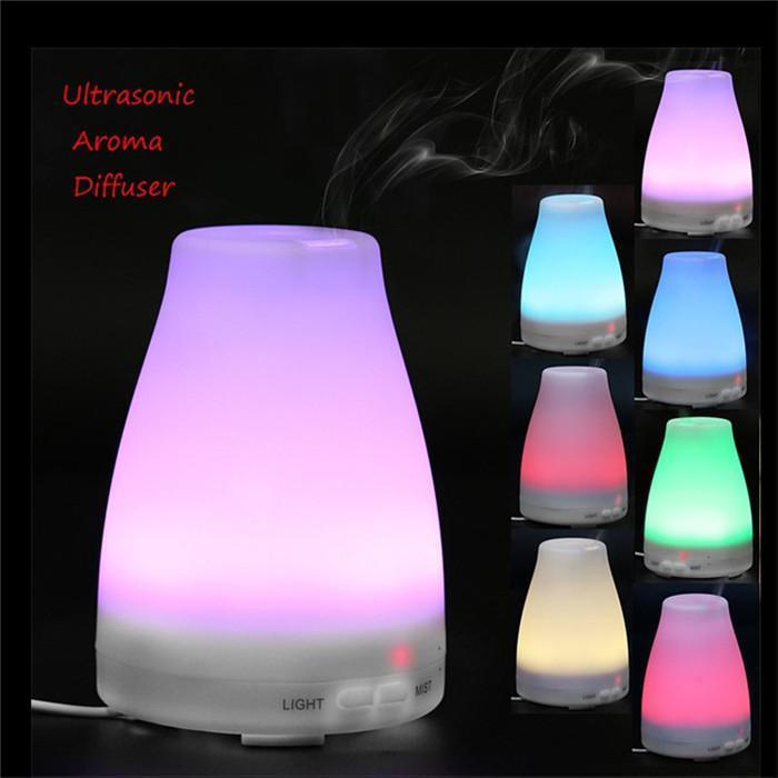 الروائح الساخنة 100ML LED رائحة المرطب الناشر ليلة الخفيفة الهواء الناشر بالموجات فوق الصوتية بارد من الضروري النفط ميست الطازجة الناشر DHD242