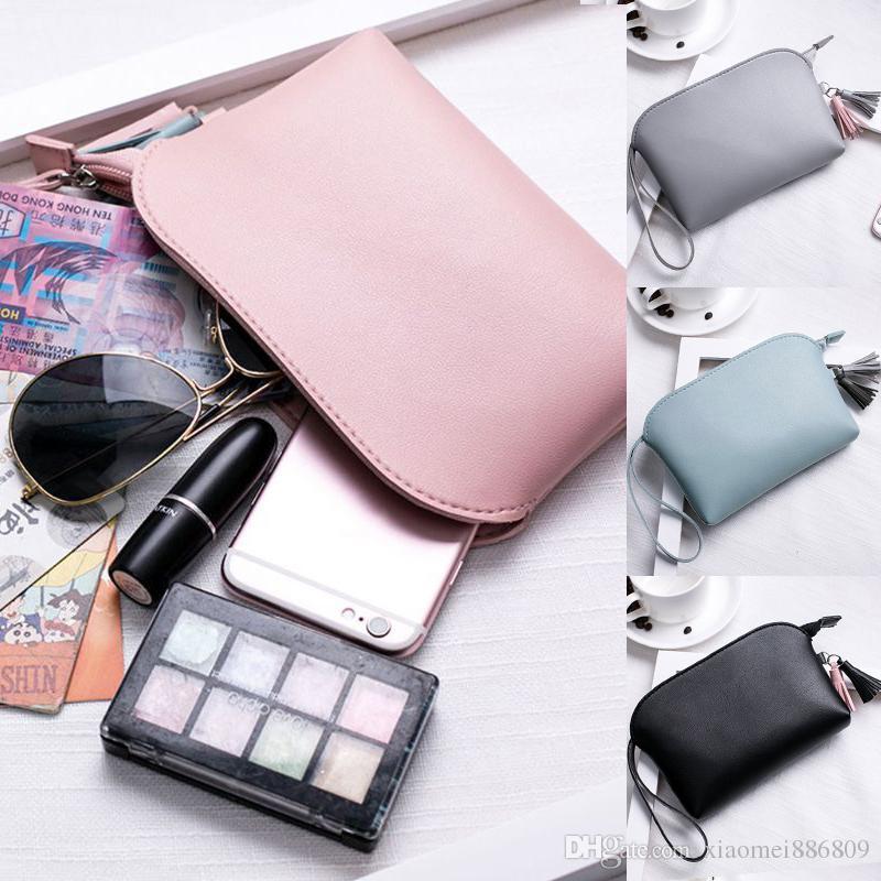 Women's PU Leather Clutch Handbag Makeup Bag Fashion Coin Purse Bag Wallets