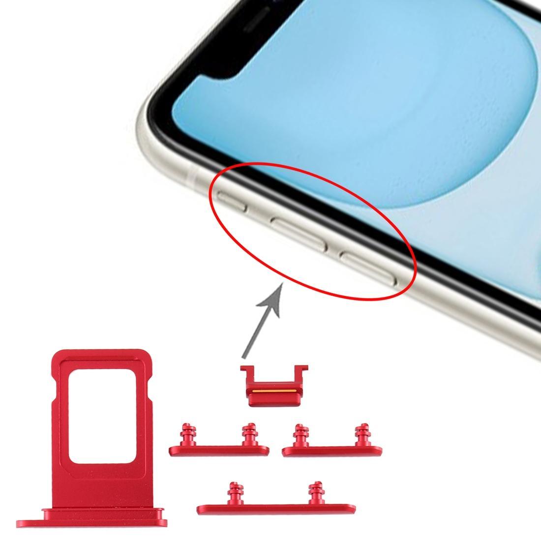 Tasto laterale SIM 10pcs alta qualità del vassoio + per iPhone 11 parti di ricambio per per iPhone 11