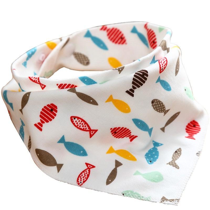 50pc / серия Хлопок Новорожденный ребенок нагрудники Cute Кормление Bib младенца Уход Бандана Burp Ткань для девочек и мальчиков Double Side Детские шарф