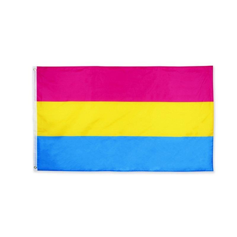 Orgullo Gay Bandera Tela de Poliéster Idea Creativa Popular Muchos Colores Banner Oblong Asta de Bandera Plástico Banderas Arco Iris Venta Directa de Fábrica 5yx p1