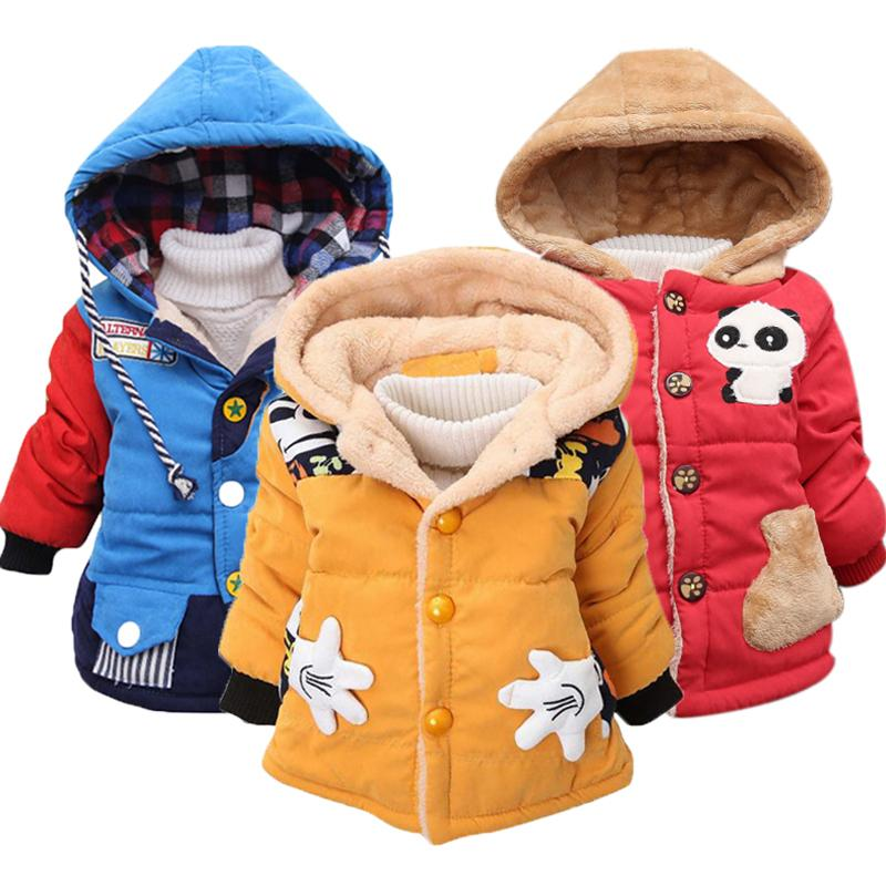 Baby Girls Jackets 2019 Autumn Winter Jackets For Boys Jacket Kids Warm Hooded Outerwear Coats For Boys Clothes Children Jacket T200104