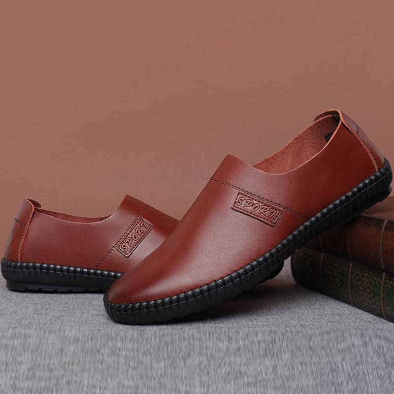 black soft leather loafers mens