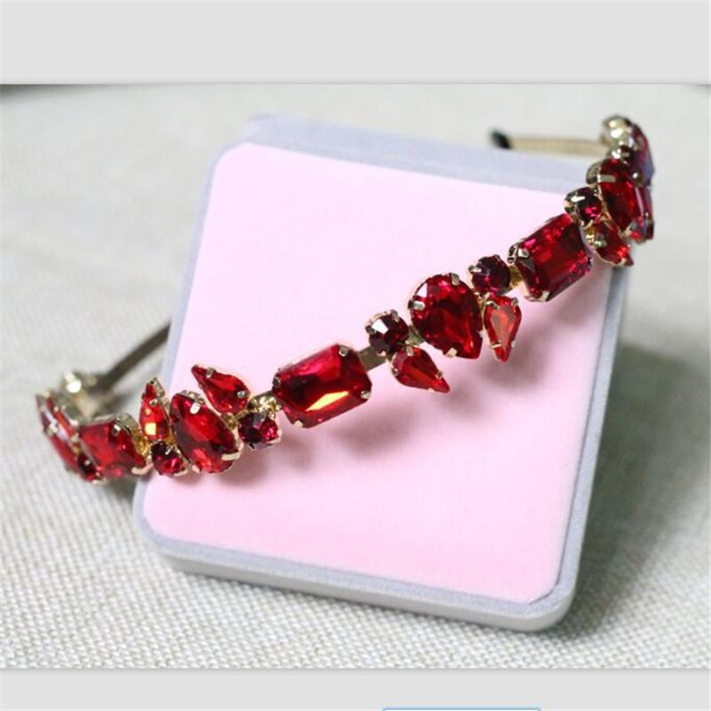 Fashion Tiara Crystal Crown Water Drop Gem Luxury Headband Hair Band Wedding Hair Accessories Hair Ornaments For Women Jewelry J 190430