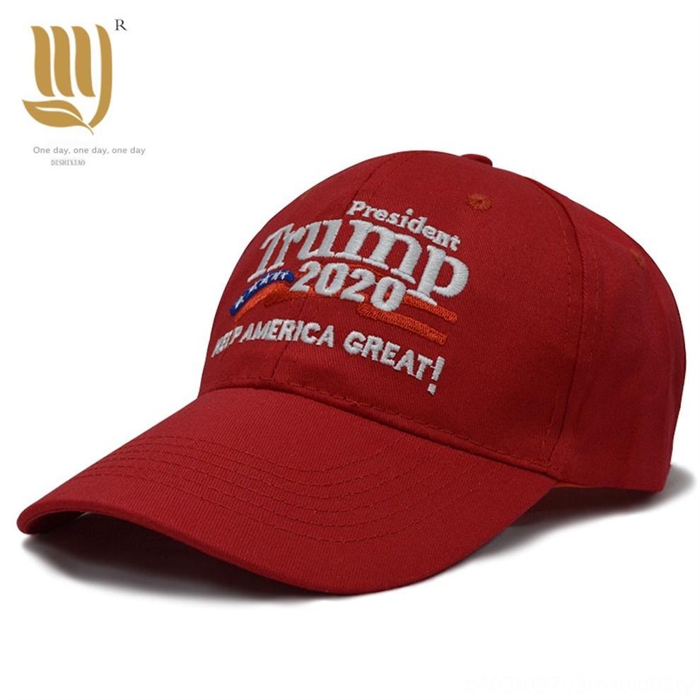 PCWlN 2020 New Hat Trump 3D broderie Casquette de baseball réglable élégant Trump Cap coton Réélection Casquette de baseball de camouflage extérieur