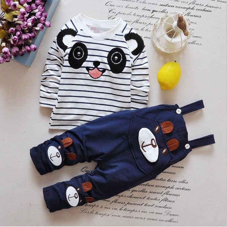 Baby Boys Одежда для одежды Детская одежда костюм мультфильм футболка + брюки 2 шт. / Набор Детская одежда детская одежда набор
