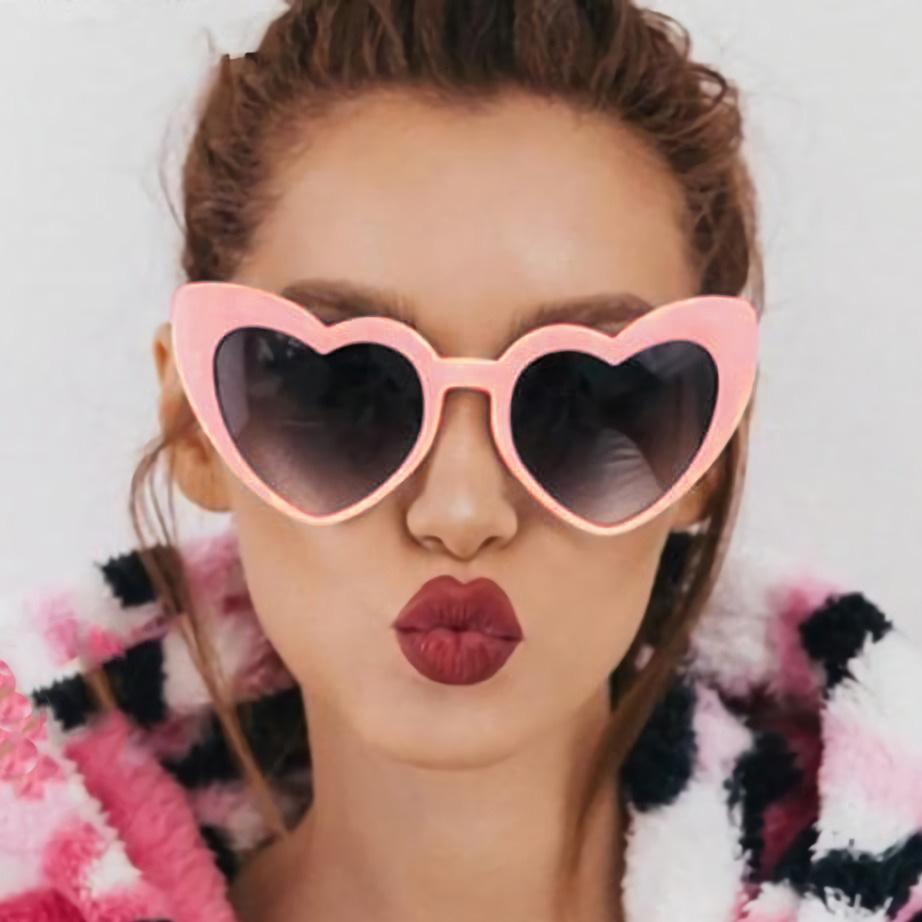 Fashion Heart Sunglasses Women 2019 Cute Love Glasses Vintage Brand Pink Sunglasses Shape for Women Party Eyewear