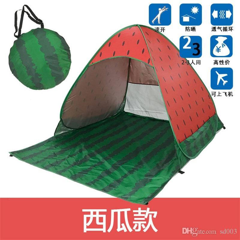 Tenda per ombrelloni Sandy Beach Tenda a prova di raggi ultravioletti a costruzione libera Completamente automatica Tabernacolo di anguria ad apertura rapida Nuovo arrivo 52hy L1