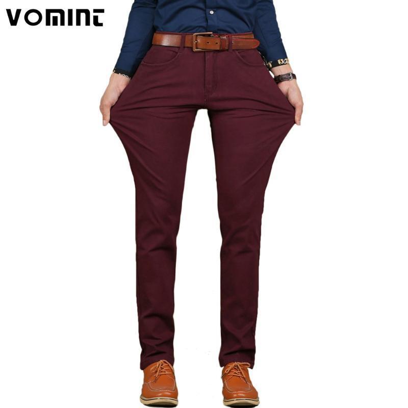 2017 nagelneue Mens-beiläufige kurze Hose hohe Stretch-elastischer Stoff dünner dünner Ausschnitt Hosentasche Badge Plus Size 44 46 V7S1P008