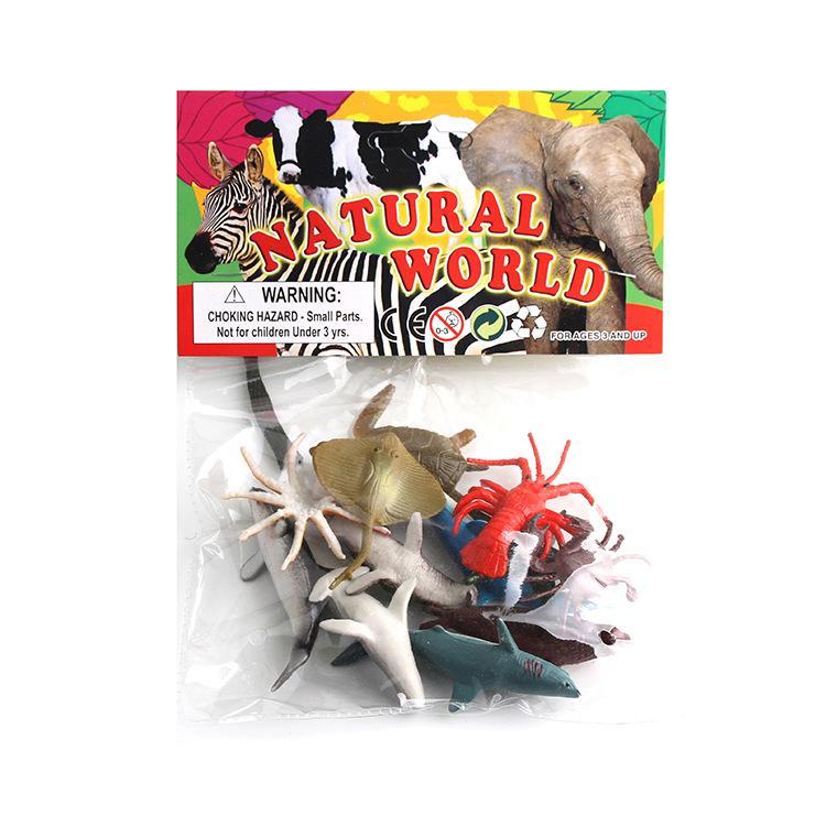 Производитель прямой продажи модель пластик морских животных черепаха осьминог кальмар модели 12 в наличии оптом
