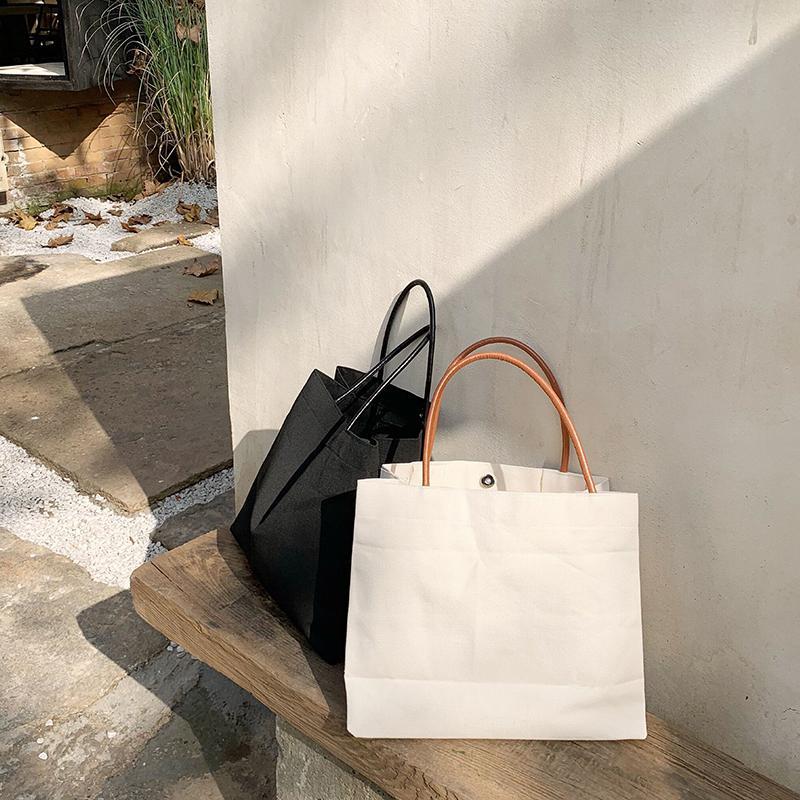 color sólido simple bolsa de hombro 2019 nueva bolsa de lona Compras Ropa de mujer ins bolsas de otoño e invierno
