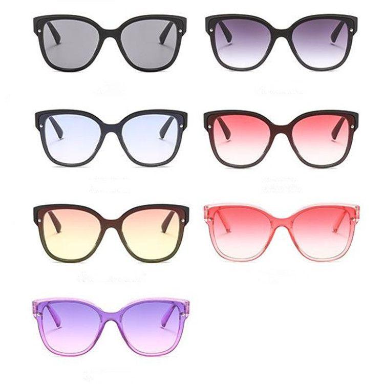 Avrupa Moda Kadın Erkek Kişilik Güneş Gözlüğü Siyam Lens Güneş Gözlükleri Gözlükler Anti-Uv Gözlükler Gözlükler GÜNEŞ Gözlük A + +