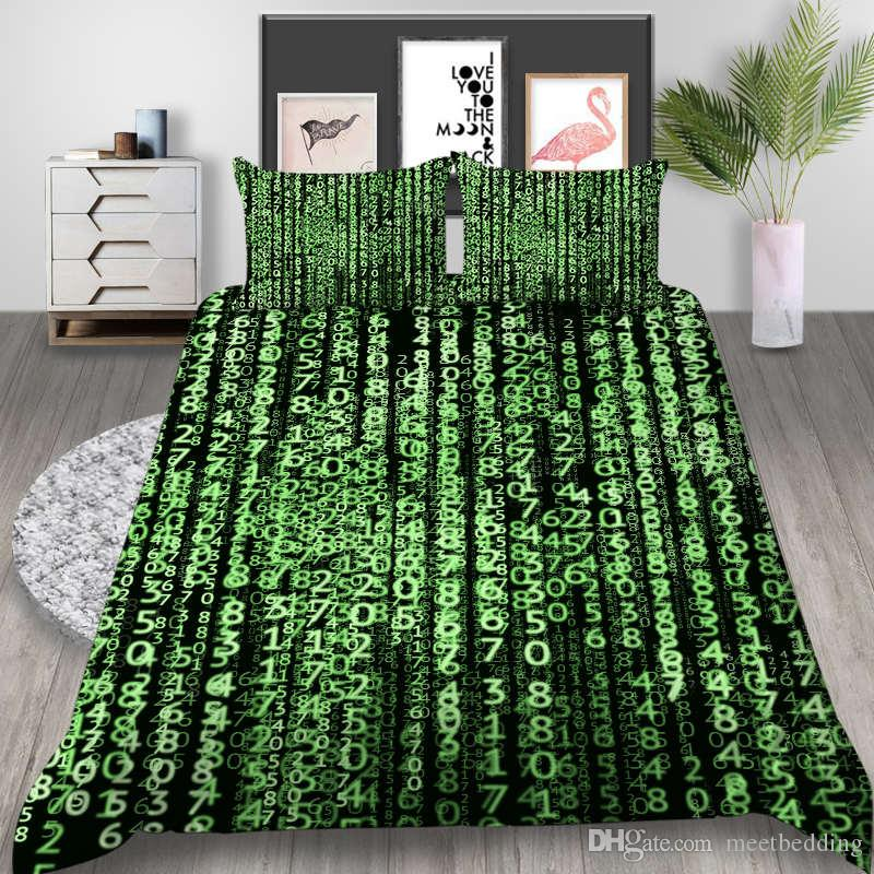 Fashion Popular Bedding Set Twin Full Queen Size with function mathematics Bedspreads 2/3pcs with pillowcase of Bed Cover Suit