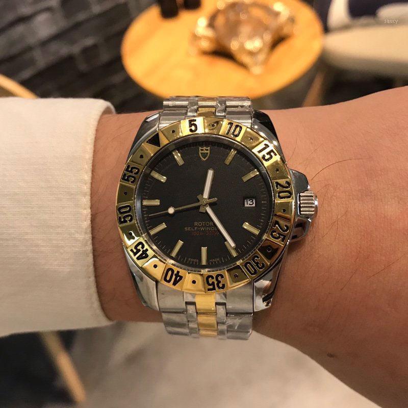Gli uomini orologi automatici movimento 42 millimetri * 12mm in acciaio inossidabile 316L cassa dell'orologio Orologi vigilanza maschio Waterproof1