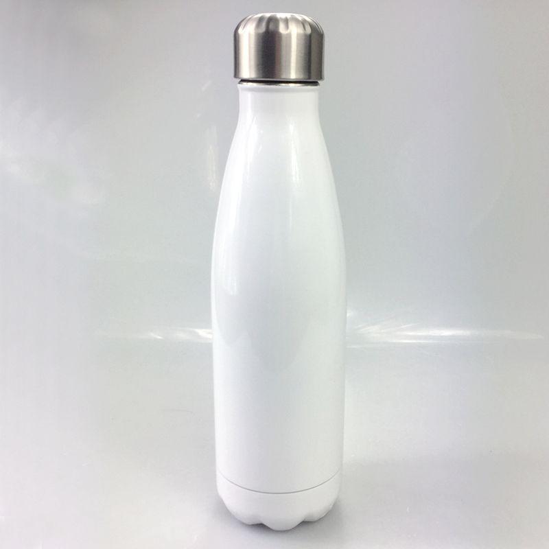 17oz Сублимация DIY Cola бутылок 500 мл из нержавеющей стали Bowling Формы движение бутылки воды теплоизолированного вакуум Открытых воды КОЛБА A09