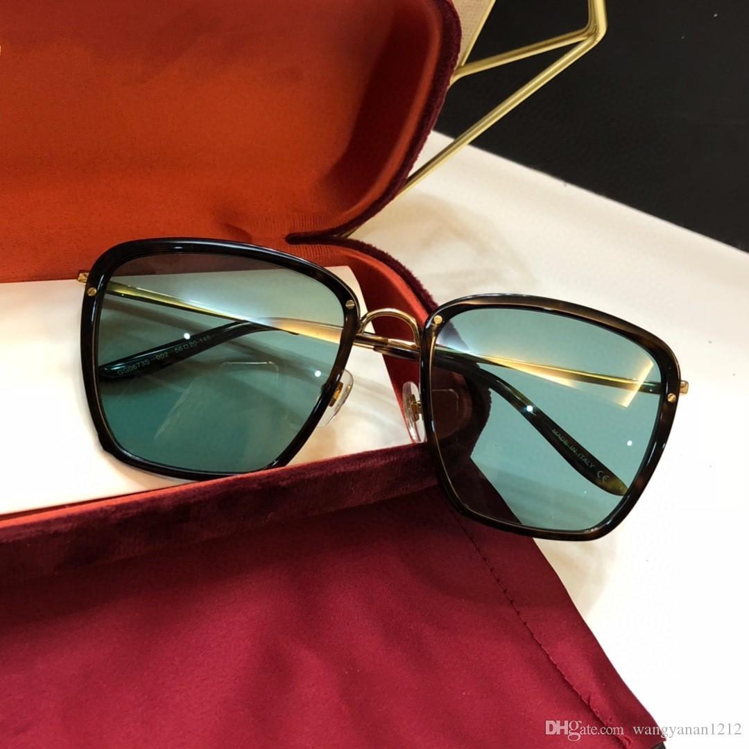 Últimas vendendo moda popular 0673 mulheres óculos de sol dos homens óculos de sol homens óculos de sol Óculos de sol de qualidade superior óculos de sol UV400 lente com a caixa