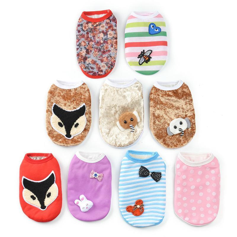 Automne et Cartoon vêtements d'hiver pour animaux chiot petit chien Gilet Modèles Aléatoires chiot Animaux chat Vêtements Animaux Produits
