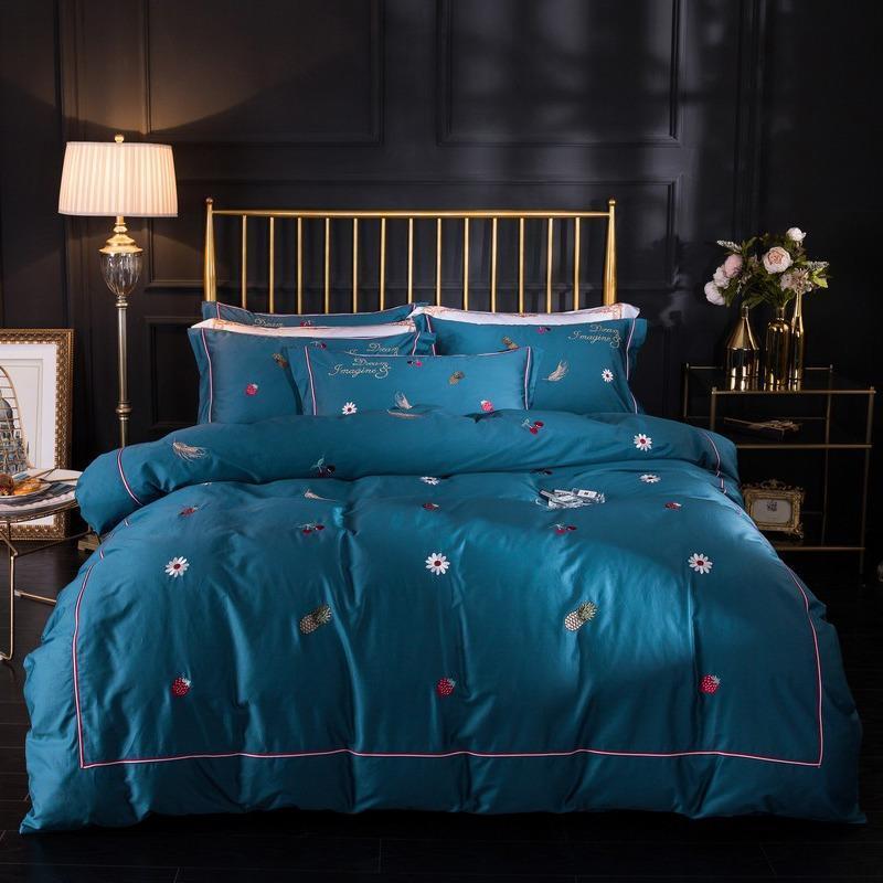 King Size Yatak Seti Lüks Şık Klasik 3D Nevresim Kraliçe Klasik Tam İkiz Tek Kişilik Yumuşak Rahat Yatak Örtüsü 77