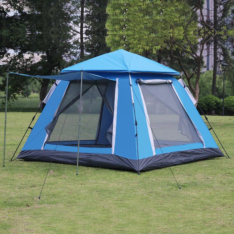 Tents And Shelters 4-5 Outdoor Camping Quick Automatic Opening Up Tent One Touch Family