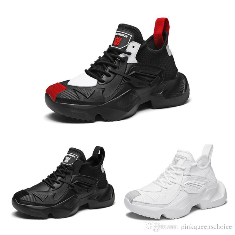 Bilim Kurgu Anime Film Ayakkabı Ayak Bileği Çizmeler Erkekler Sokak Ayakkabı Yüksekliği Artan Yaz Clunky Sneakers Rahat Moda Karikatür Baba Ayakkabı