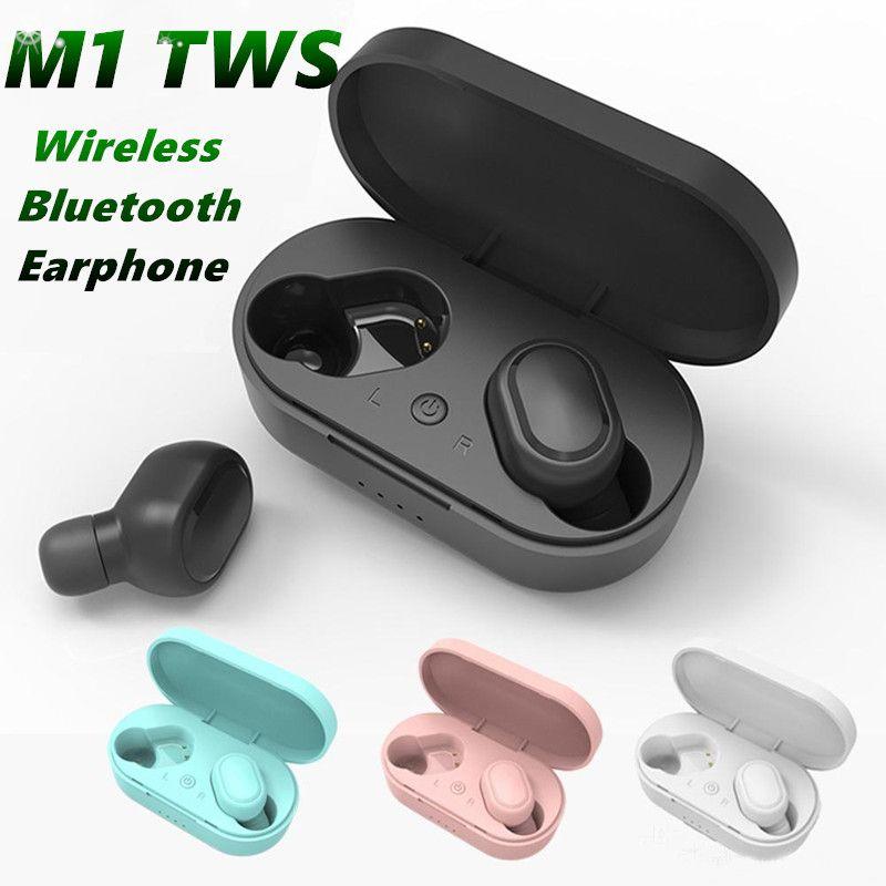 M1 Беспроводные Bluetooth Наушники Наушники 5.0 Наушники Harbuds 3D Стерео Мини-гарнитура Наушники Наушники с розничной коробкой MQ50
