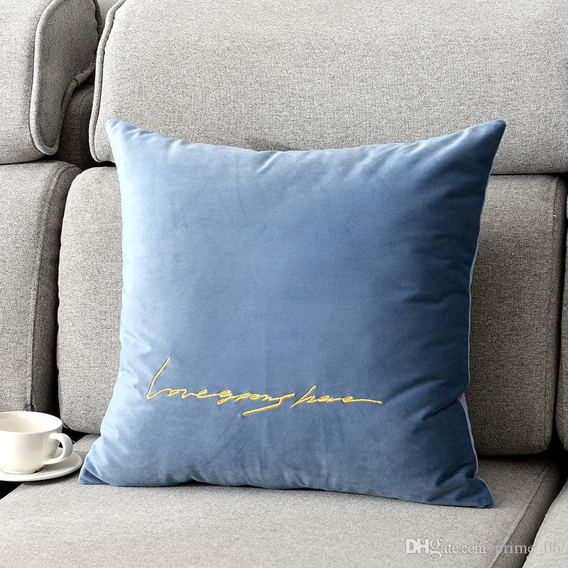 Sofa Couch Cushion Cover Pair of Strip Striped Corduroy Velvet Pillow Case Cases