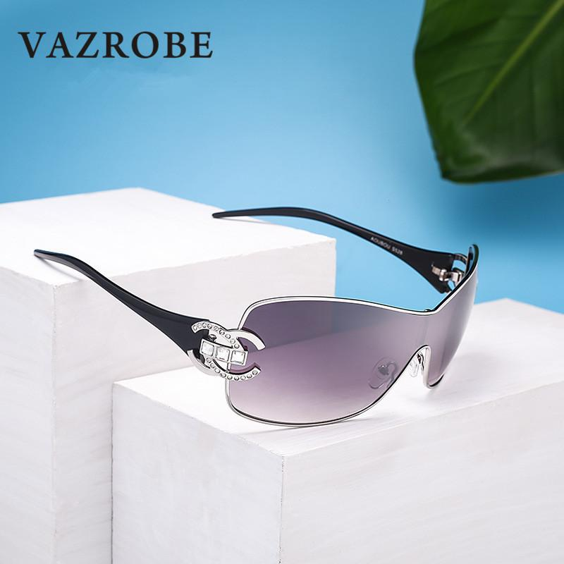 wholesale Sunglasses Women Brand Designer Rhinestone Oversized Sun Glasses for Female Elegant Ladies Shades 2018 Wide Face