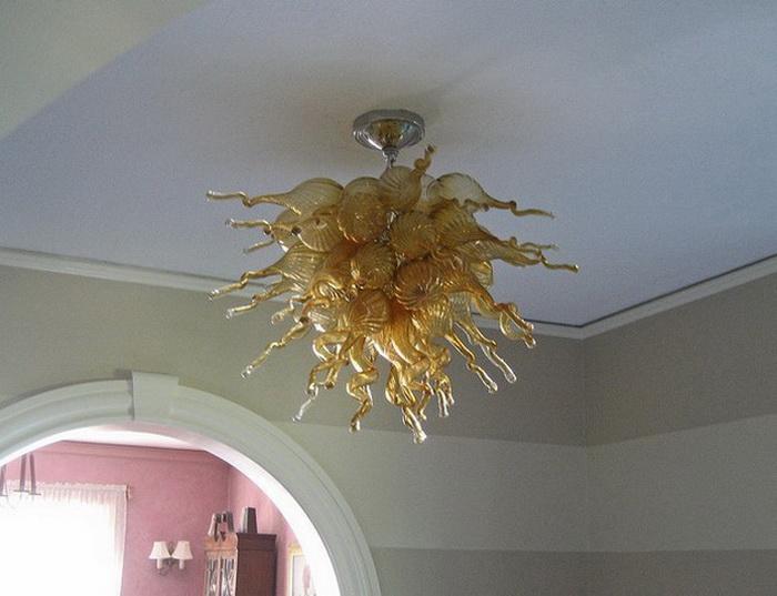 Довольно итальянская Янтарная люстра Бесплатная доставка 120v / 240v светодиодные лампы роскошный крытый свет декоративное искусство Марокканский