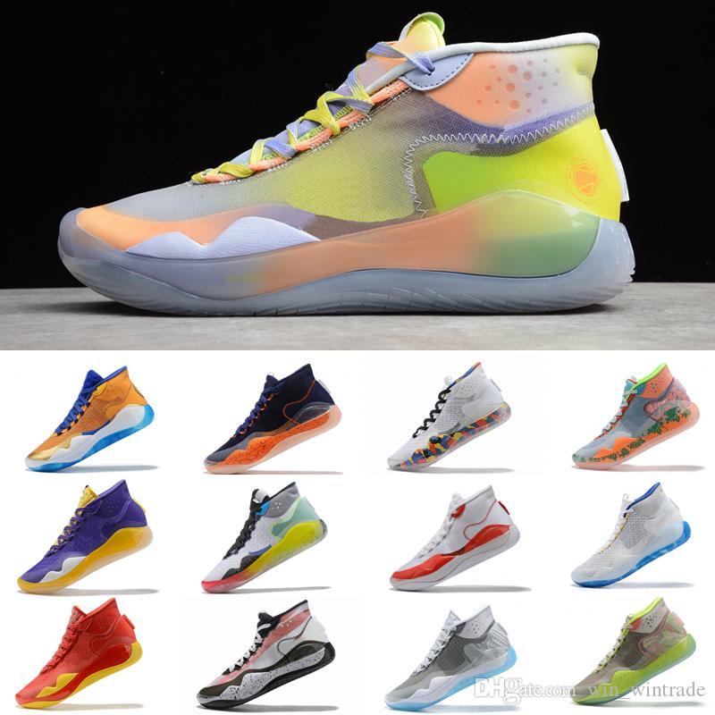 2019 Mens Hot Mvp Kevin Durant KD 12 농구 Shoes Anniversary University 12 초 XII 오레오 USA 엘리트 KD12 Sport 운동화 Size 40-46