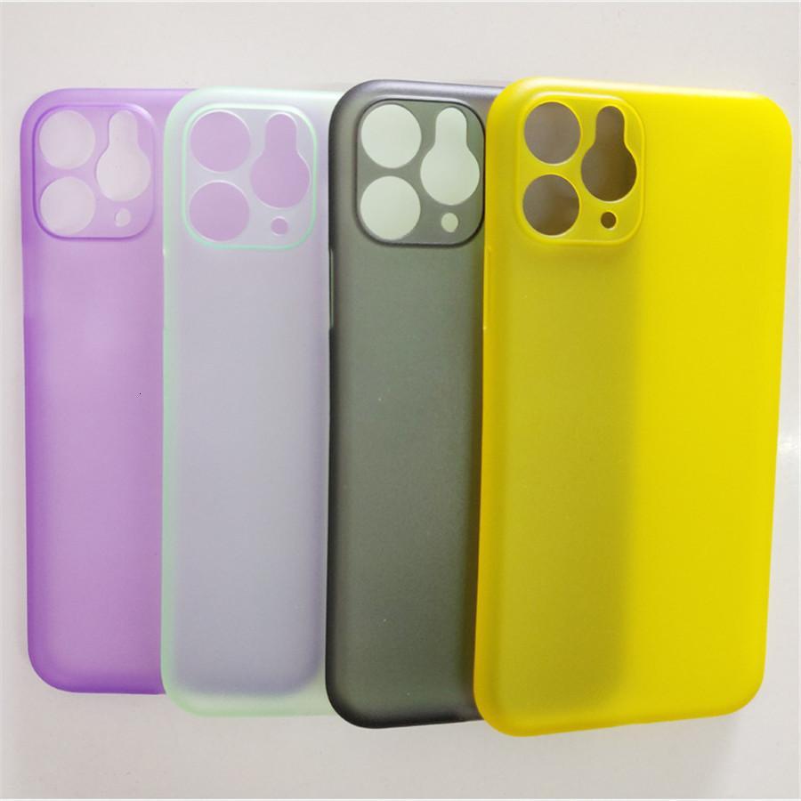 La caja caliente venta para el iPhone 11 11Pro X 8 7 6 5 4 5C además de súper ultra fina adelgaza suave transparente cubierta de la caja colorida suave claro PP