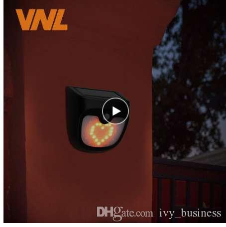 Solar recargable LED Bombilla de luz solar Al aire libre Lámpara de jardín Decoración PIR Sensor de movimiento Noche Seguridad Luz de la pared a prueba de agua