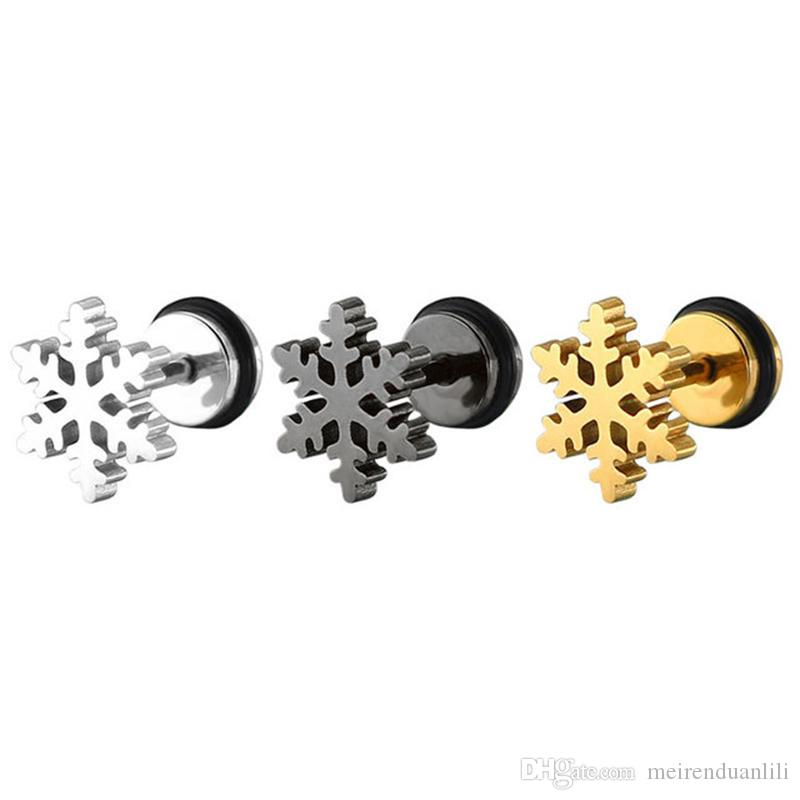 Orecchini vintage con fiocco di neve per donne, acciaio inossidabile ipoallergenico femminile per le donne regalo di Natale orecchini delicati accessori