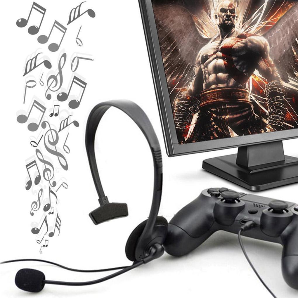 Wired Noir Gaming Musique Jeu casque écouteurs pour Playstation Portable PS4 VOL