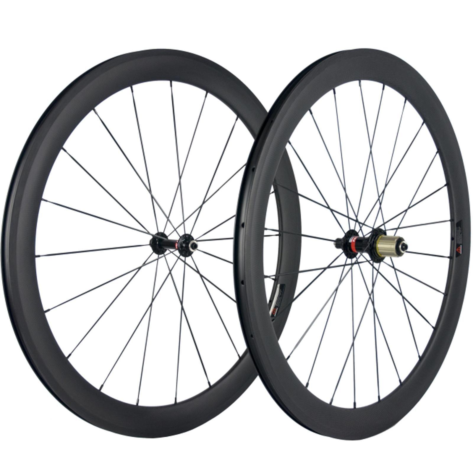 700C الفاصلة الكربون 50mm العجلات الطريق دراجة 3K ماتي الكربون عجلات الأحمر Novatec محور 291 المحور سباق العجلات