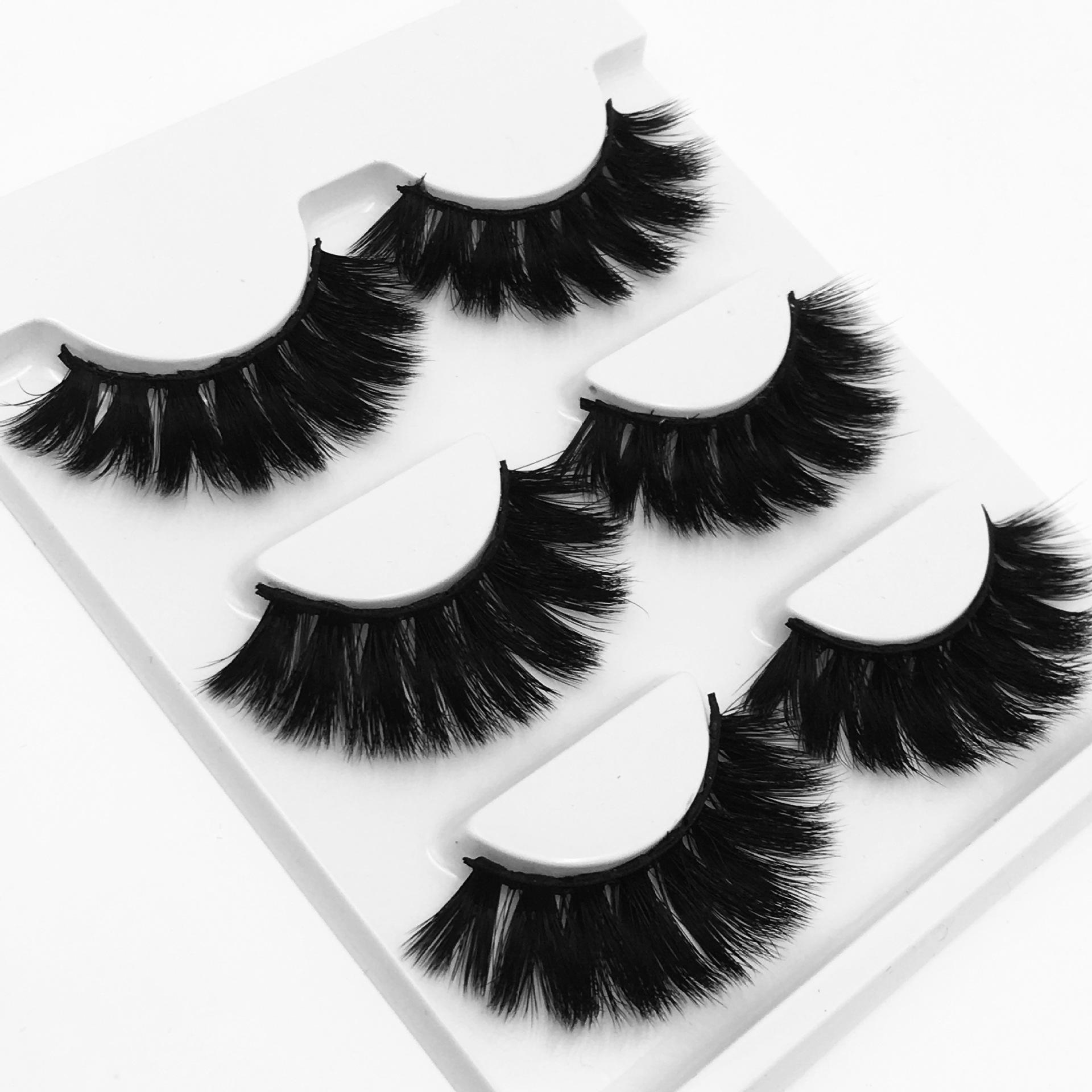 25mm 3D falsche Wimpern gefälschte Wimpern langes Make-up 3D Nerz Wimpern Wimpernverlängerung Nerz Wimpern Schönheit Make-up-Tools